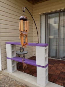 The finished project and my windchimes