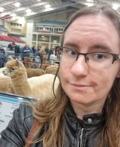 Me with an alpaca